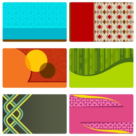 illustration of set of colorful retro background Stock Vector - 11275769