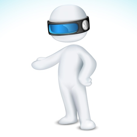 scalable: illustration of 3d man in vector fully scalable Illustration