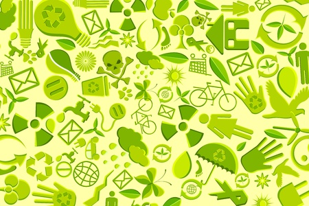 illustration of background made of recyclable item Stock Vector - 11275761