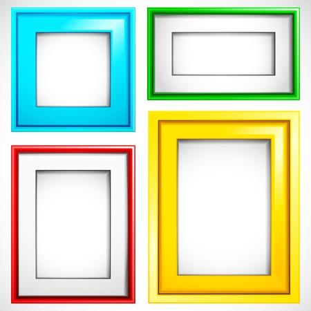 illustration of set of colorful empty frame in different shape Stock Vector - 11275765