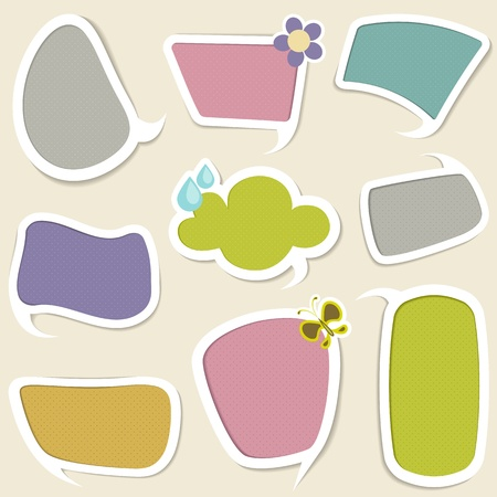 illustration of chat bubble with different colorful pattern Vector