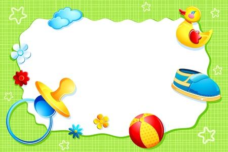 illustration de la carte l'arrivée de bébé avec l'élément bébé
