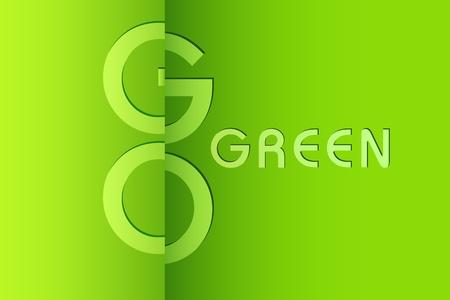 conciencia ambiental: ilustraci�n de fondo verde para ir la conciencia ambiental