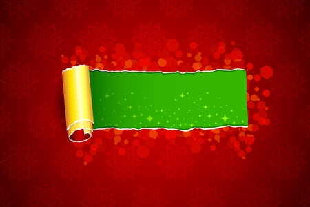 illustration of christmas card with torn paper Vector