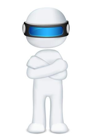 caballeros: 3d ilustraci�n del hombre en el vector de plegado de pie a mano totalmente escalable