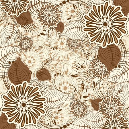 illustration of floral background in retro style Vector