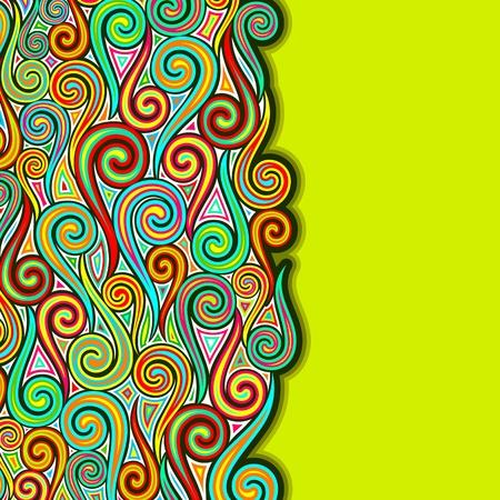 ejemplo de remolinos colorul sobre fondo abstracto