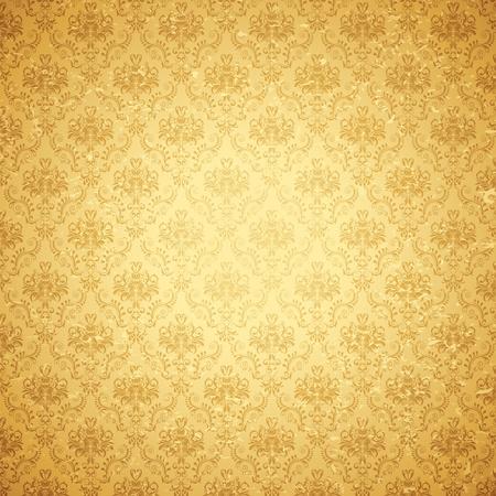 vintage: illustration av sömlös blommig bakgrund i vintagestil Stockfoto