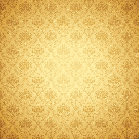 illustration of seamless floral background in vintage style Stock Illustration - 11494060