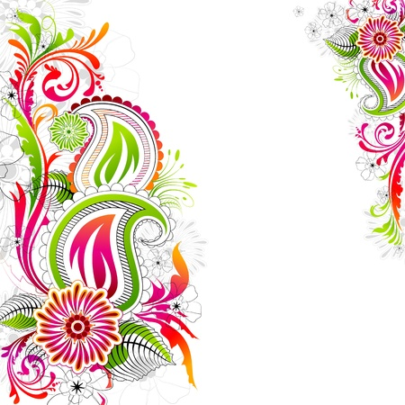 design floral: illustration of colorful flower on abstract background Illustration