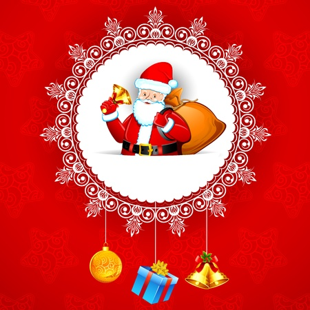 illustration of santa claus with christmas gifts Vector