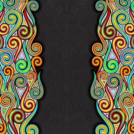 illustration of colorful swirls on abstract background Vector
