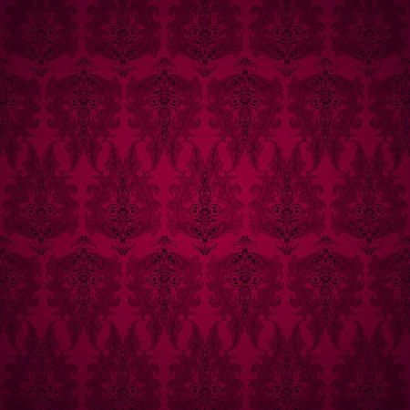 illustration of seamless floral background in vintage style Stock Illustration - 11779431