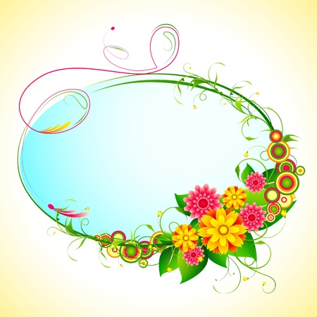 bunch flowers: illustration of bunch of colorful flower frame Illustration