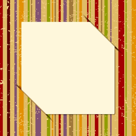 illustration of copy space on retro style multicolor striped background Stock Vector - 11779400