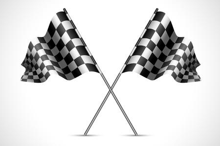 illustrazione di bandiera, corsa con texture a scacchi