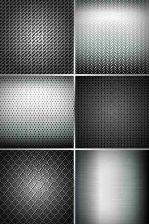industry background: ejemplo de conjunto de la textura de fondo de metal