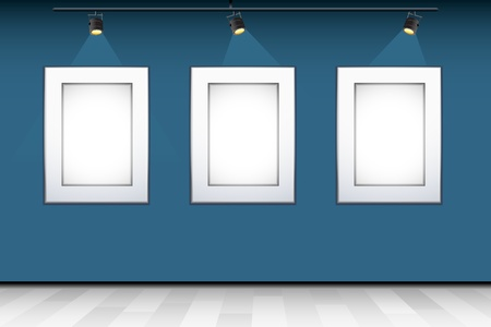 illustration of empty photo frame for presenting with focus light illustration