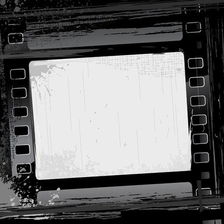 illustrazione del telaio striscia di pellicola su sfondo grungy abstract Vettoriali