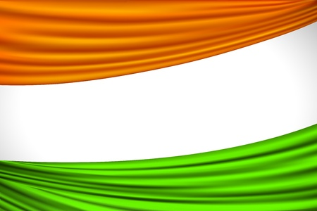 republic day: illustration of tricolor Indian flag made of curtain draper