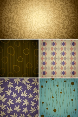 illustration of set of different pattern for background Stock Vector - 11779533