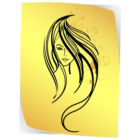 illustration of sketch of lady on paper on white background Stock Vector - 11779499
