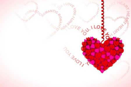 illustration of heart hanging on love base background Stock Vector - 11873909