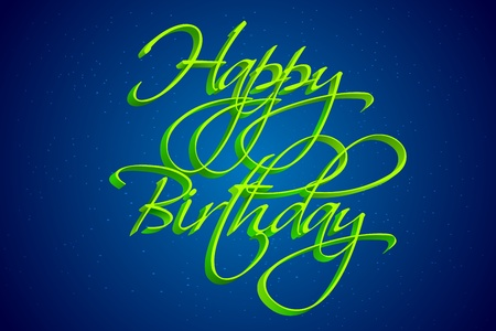 anniversary wishes: illustration of happy birthday text on sky background Illustration