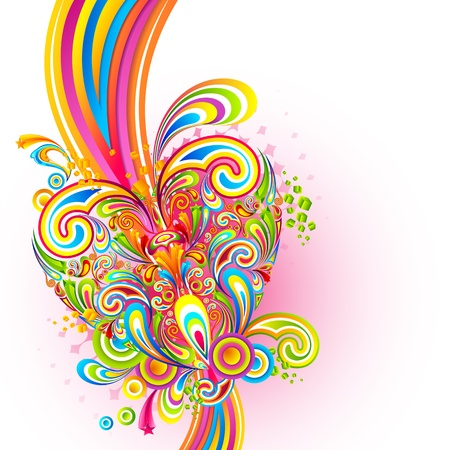 truelove: illustration of colorful swirl in love background