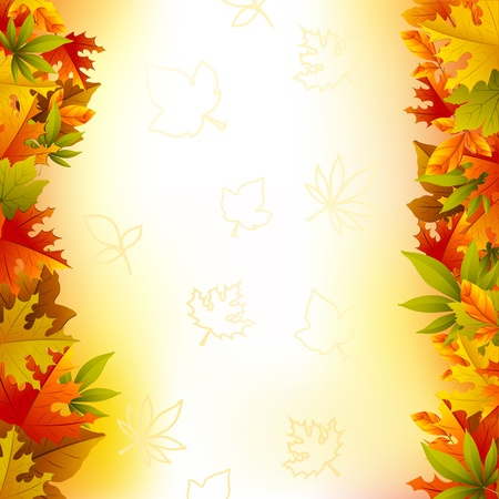 illustration of maple leaf frame on autumn card Stock Vector - 11873915