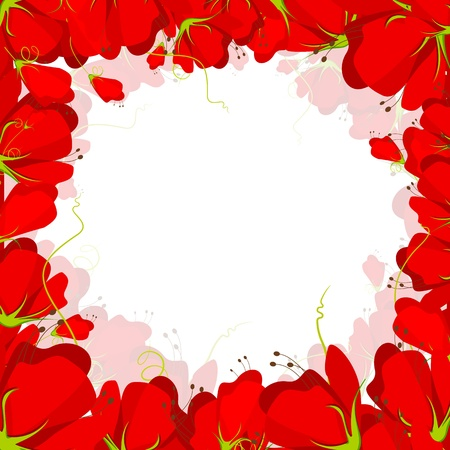 illustration of frame made of colorful flower Stock Vector - 11979322