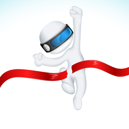 finishing: illustration of 3d man in vector fully scalable Illustration