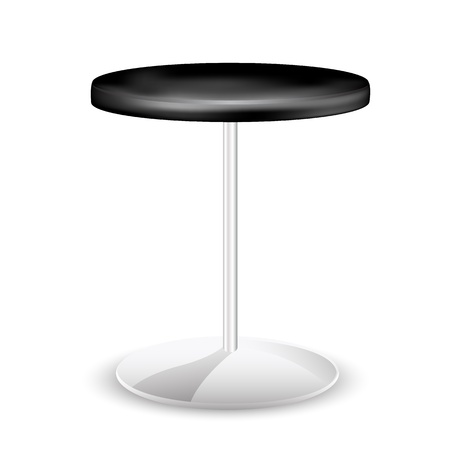 stools: illustration of trendy stool on white background Illustration