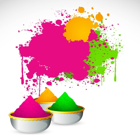 illustration of bowl full of colorful gulal for holi background Stock Vector - 12038871
