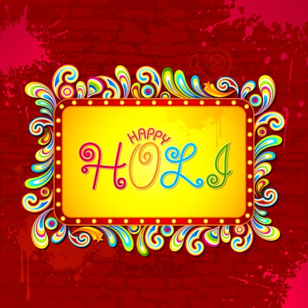 illustration of abstract colorful background for Holi Vector