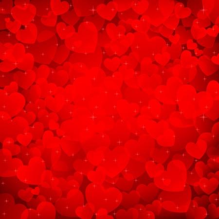 truelove: illustration of valentine background with many heart Illustration