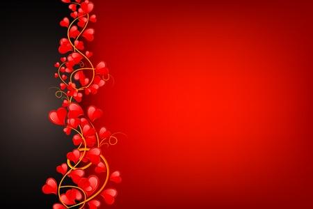 illustration of swirl of heart on love background Illustration