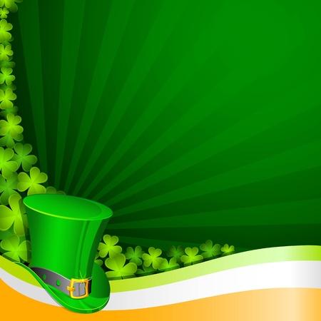 illustratie van de hoed op Saint Patrick achtergrond