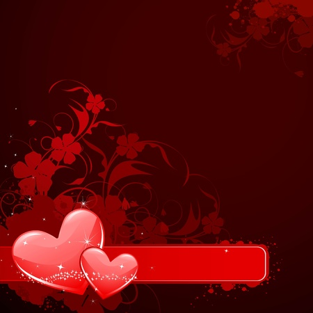 illustration of love heart on valentine background Vector