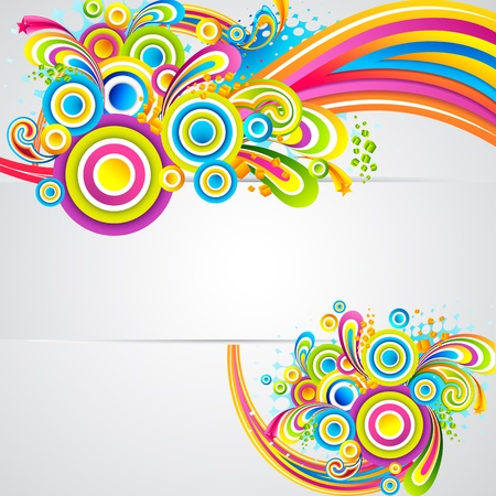 colorful design: illustration of colorful shape on abstract background