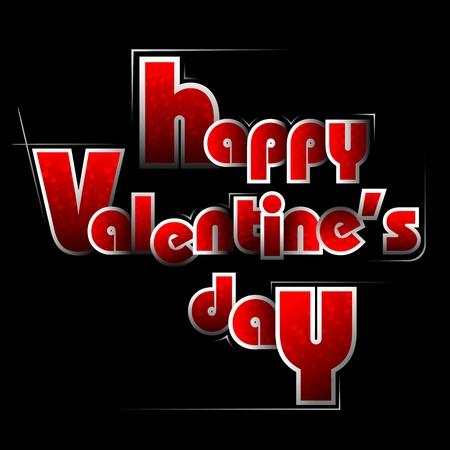 truelove: illustrazione della carta di Buon San Valentino in stile tipografia