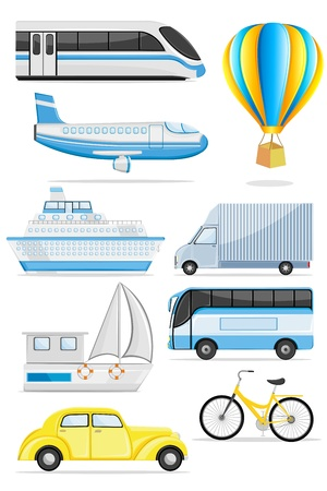 illustration of transportation icon on isolated background Vector
