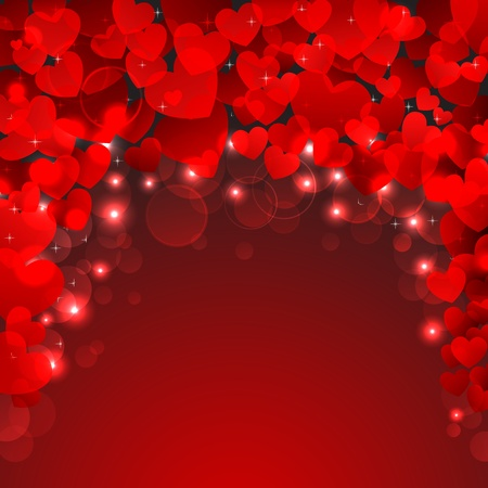 truelove: illustration of valentine background with many heart Stock Photo