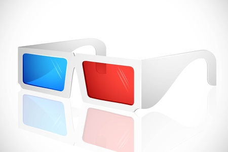 3D glasses: illustration of 3d glasses on white background