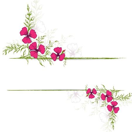 illustration of vintage floral background with copy space Векторная Иллюстрация