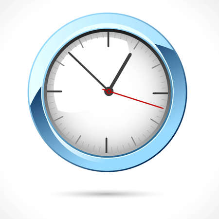 illustration of clock on abstract white background Vector