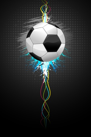 energy drink: illustration of soccer ball on abstract grungy background