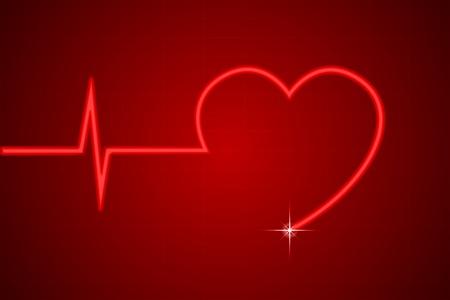 illustration of life line forming heart shape illustration