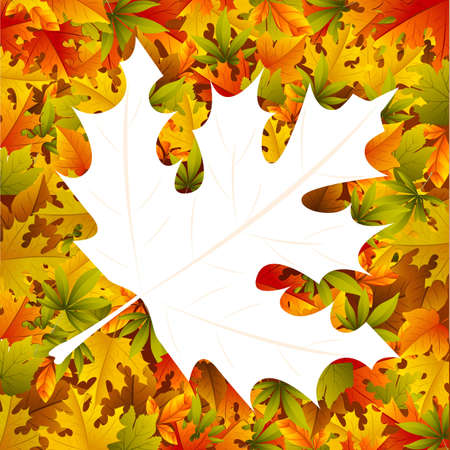 illustration of autumn background with maple leaf Stock Vector - 12763182
