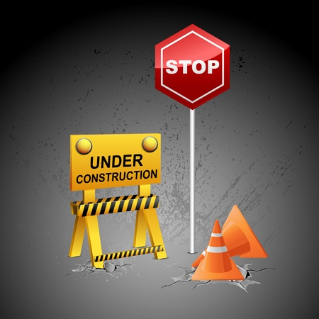illustration of under construction background  Vector